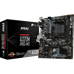 MSI A320M PRO-M2, AM4, DDR4, m.2,U3,mATX