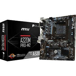 MSI A320M PRO-M2 V2, AM4, DDR4, m.2,U3,mATX