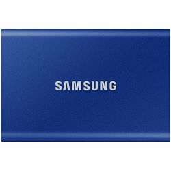 Samsung SSD T7  External 1TB, USB 3.2, 1050/1000 MB/s, included USB Type C-to-C and Type C-to-A cables, 3 yrs, indigo blue, EAN: 8806090312410