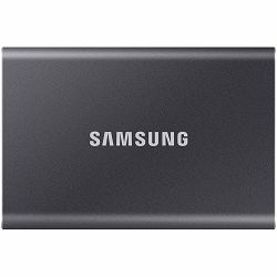 Samsung SSD T7  External 1TB, USB 3.2, 1050/1000 MB/s, included USB Type C-to-C and Type C-to-A cables, 3 yrs, iron gray, EAN: 8806090351679