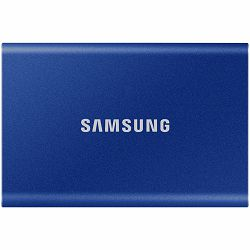 Samsung SSD T7  External 2TB, USB 3.2, 1050/1000 MB/s, included USB Type C-to-C and Type C-to-A cables, 3 yrs, indigo blue, EAN: 8806090312403