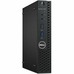 DELL Optiplex 3050 MFF, Intel Pentium G4560T (2.9GHz/35W), 4GB 2400MHz DDR4, 500GB 2.5in SATA(7,200 RPM), Intel HD 610, DP, HDMI, VGA, USB 3.1 x4, USB2.0 x2, RJ-45, Serial Port Adapter, Ubuntu, 3Y