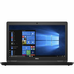 DELL Latitude 5580 15.6 FHD(1920 x 1080) AG NT, Intel Core i5-7440HQ, 8GB (1x8GB) 2133MHz DDR4, M.2 256GB SATA SSD, HD Graphics 630, Cam, Mic, WiFi+BT 4.2, HDMI, VGA, RJ-45, 2x3.0, 1x3.0 PWS, Backlit