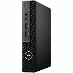 DELL OptiPlex 3080 Micro BTX - Intel i3-10100T 3.8GHz, 8GB (1X8GB) RAM, M.2 256GB SSD PCIe NVMe, TPM, WiFi, BT, tipkonica i miš, Windows 10 Pro, 3Y