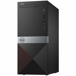 Dell Vostro 3670 - Intel i3-8100 (6MB Cache, up to 3.6 GHz), 4GB DDR4 2400MHz, 1TB 7200RPM HDD, Integrated Intel UHD 630, DVDRW, 802.11bgn + Bluetooth 4.0, K+M, Linux, 4Y NBD