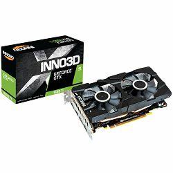 INNO3D Video Card NVidia GeForce GTX 1660 Twin X2, 6GB GDDR5, 192-bit, 8Gbps, 3xDP+HDMI