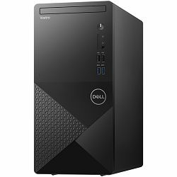 Dell Vostro Desktop 3681, Intel i3-10100 4.3GHz, 1x8GB RAM, SSD 256GB M.2 PCIe NVMe, Integrated graphics, DVDRW, WiFi, BT, TPM, SD CR, NO keyboard, Windows 10