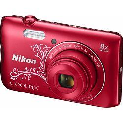 Nikon COOLPIX A300 Red Llineart (gratis SD/16GB + AcmeMade torbica)