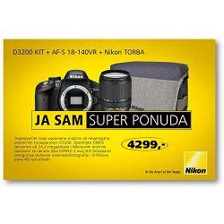 Nikon D3200 KIT WITH AF 18-140VR + poklon mobitel UTOK 351D