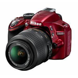 Nikon D3200 KIT WITH AF 18-55VR II RED