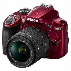 Nikon D3400 KIT AF-P 18-55VR Red