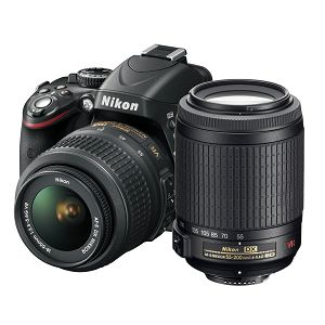 Nikon D5100 KIT WITH AF18-55VR + AF55-200VR