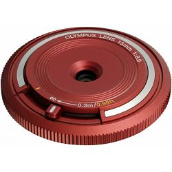 OLYMPUS Body Cap Lens 15mm 1:8.0 / BCL-1580 red,V325010RE000