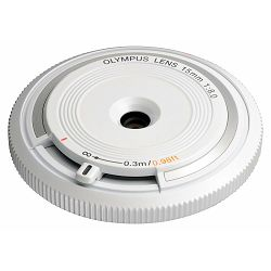 OLYMPUS Body Cap Lens 15mm 1:8.0 / BCL-1580 white, V325010WE000