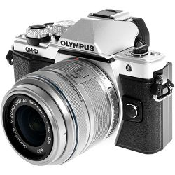 OLYMPUS E-M10 II 1442 II R Kit slv/slv / E-M10 Mark II silver + EZ-M1442 IIR (14-42mm) silver incl. Charger + Battery, V207051SE000