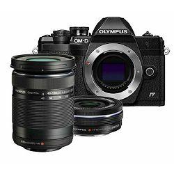 OLYMPUS E-M10 IV 1442 EZ Pancake DZK blk/blk/bk, E-M10 IV Body black, M.Zuiko Digital ED 14-42mm F3.5-5.6 EZ black, M.Zuiko Digital  ED 40-150mm F4.0-5.6 R black, V207134BE000