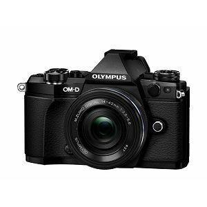 OLYMPUS E-M5II Pancake Zoom Kit 14-42mm blk/blk / E-M5 Mark II black + EZ-M1442EZ black