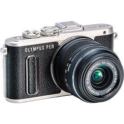 OLYMPUS E-PL8 1442IIR Kit blk/blk (E-PL8 black + EZ-M14-42IIR black - incl. Charger & Battery)