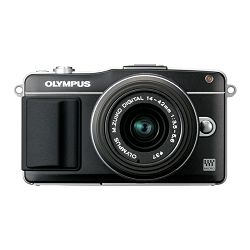 Olympus E-PM2 1442 -  Black Digital Camera with Black 14-42mm Lens - AKCIJA!