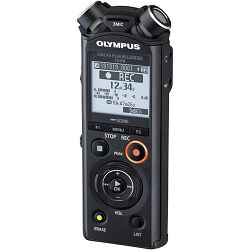 Olympus LS-P4 black Linear PCM Recorder incl. Rechargeable Ni-MH battery and Tripod attachment adapter, V409160BE000