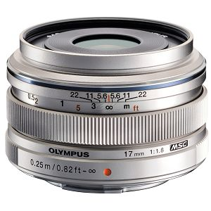OLYMPUS M.Zuiko Digital 17mm 1:1.8 / EW-M1718 SREBRNI
