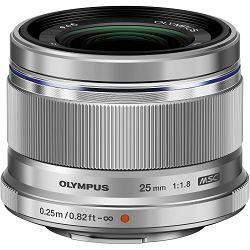 OLYMPUS M.ZUIKO DIGITAL 25mm 1:1.8 incl lens hood / ES-M2518 silver, V311060SW000