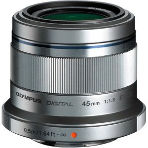 OLYMPUS M.Zuiko Digital 45mm 1:1.8 / ET-M4518 SREBRNI