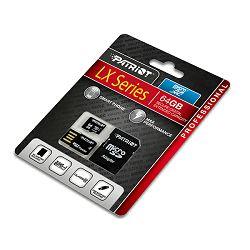 Patriot microSDHC, class10, 64GB, USB čitač