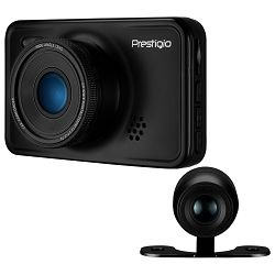 Car Video Recorder PRESTIGIO RoadRunner 527DL (Dual Camera: front - FHD 1920x1080@30fps, HD 1280x720@60fps, rear - VGA 640?480@30fps, 3.0 inch screen, NTK966580, 2 MP CMOS GC2023 image sensor, 12 MP c