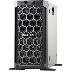 DELL EMC PowerEdge T340 w/8x3.5in, Intel Xeon E-2224(3.4GHz, 8M, 4C/4T, turbo (71W)), 16GB 3200 MT/s ECC, 1TB 7.2K RPM SATA 6Gbps 512n 3.5in Hot-plug, PERC H330 RAID, iDrac9 Basic, DVD/RW, 2x Dual Hot
