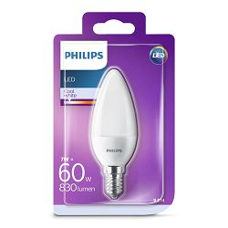 Philips LED žarulja, E14, B38, hladna, 7W, matir