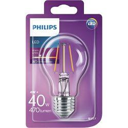 Philips LED žarulja, E27, A60, topla, 40W, prozirna