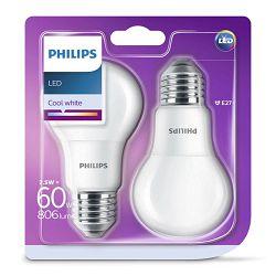 Philips LED žarulja, E27,A60, hladna, 7.5W, mat.2x