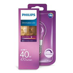 Philips LED žarulja, E27, P45, topla, 40W, gls,dimmable