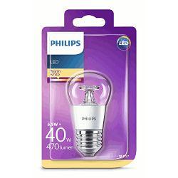 Philips LED žarulja, E27, P45, topla, 5.5W, prozir