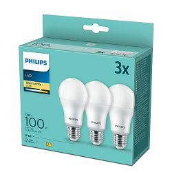 Philips LED žarulja, E27, A60, topla, 13W, mat. 3x