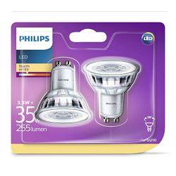 Philips LED žarulja, GU10, topla, 3.5W, 36 st., x2
