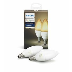 Philips HUE žarulja, bijela, E14, 2 komada CW-WW