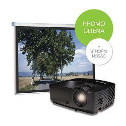 Komplet projektor InFocus IN119HDx, platno SlimScreen 200x200cm i stropni nosač za projektor - AKCIJA!