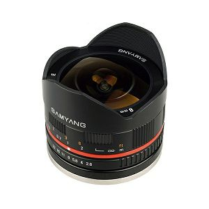 Samyang 8mm fisheye F2.8 Sony E-mount (Black)