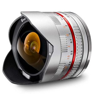 Samyang 8mm fisheye F2.8 Sony E-mount (Silver)