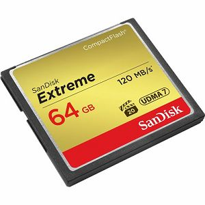 SanDisk Extreme CF 120MB/s, 85MB/s write, UDMA7, 64GB, SDCFXSB-064G-G46