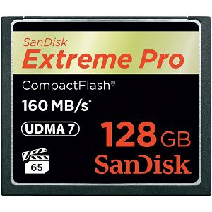 SanDisk Extreme Pro CF 160MB/s 128 GB VPG 65, UDMA 7, SDCFXPS-128G-X46