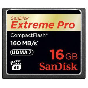 SanDisk Extreme Pro CF 160MB/s 16 GB VPG 65, UDMA 7, SDCFXPS-016G-X46