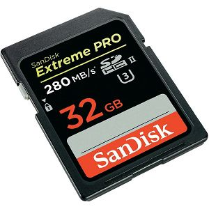 SanDisk Extreme Pro SDHC 32GB - 280MB/s UHS-II, SDSDXPB-032G-G46