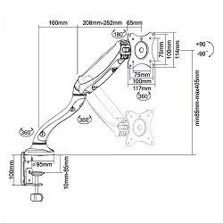 SBOXLCD-S012 Stolni stalak s oprugom za 1 monitor