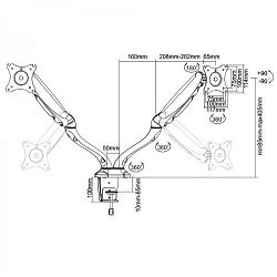 SBOX nosač s oprugom,2 monitora,13