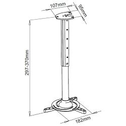 SBOXs tropni nosač projektora PM-102, nosivost 15kg