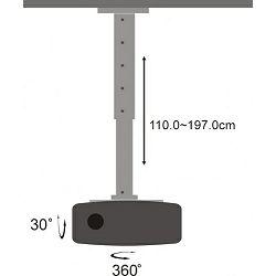 SBOX stropni nosač projektora PM-200XL 15kg, do 1,97m