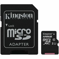 Kingston 128GB micSDXC Canvas Select Plus 100R A1 C10 Card + ADP EAN: 740617298703